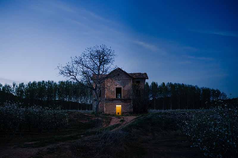 les maisons hantée en automne