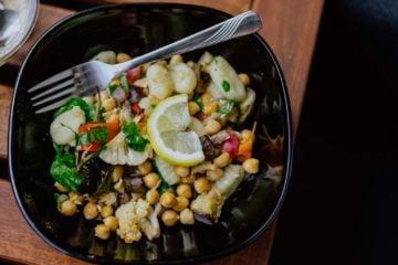 chickpeas salade, Salade légère de pois chiches