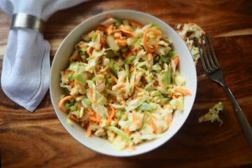 Salade de chou traditionnelle, Traditional cabbage salad