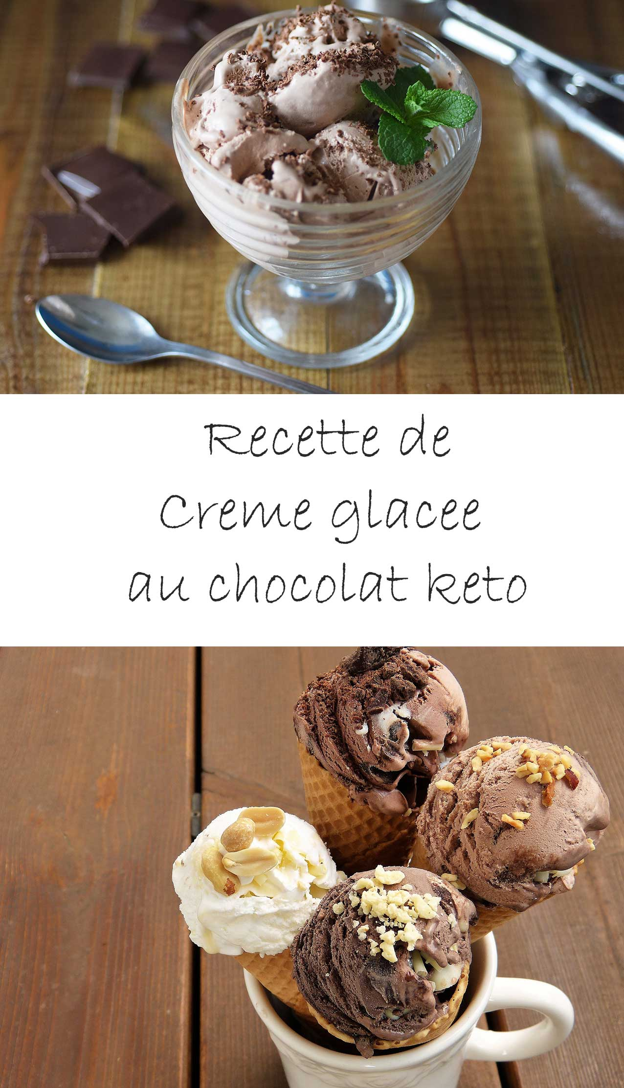 Crème glacée au chocolat keto (diète cétogène)