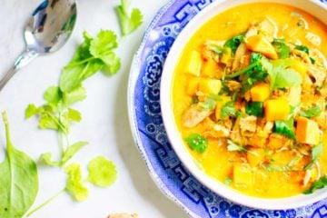 Curry aux patates véganes, végétaliennes, vegan à l'autocuiseur, recette instant pot