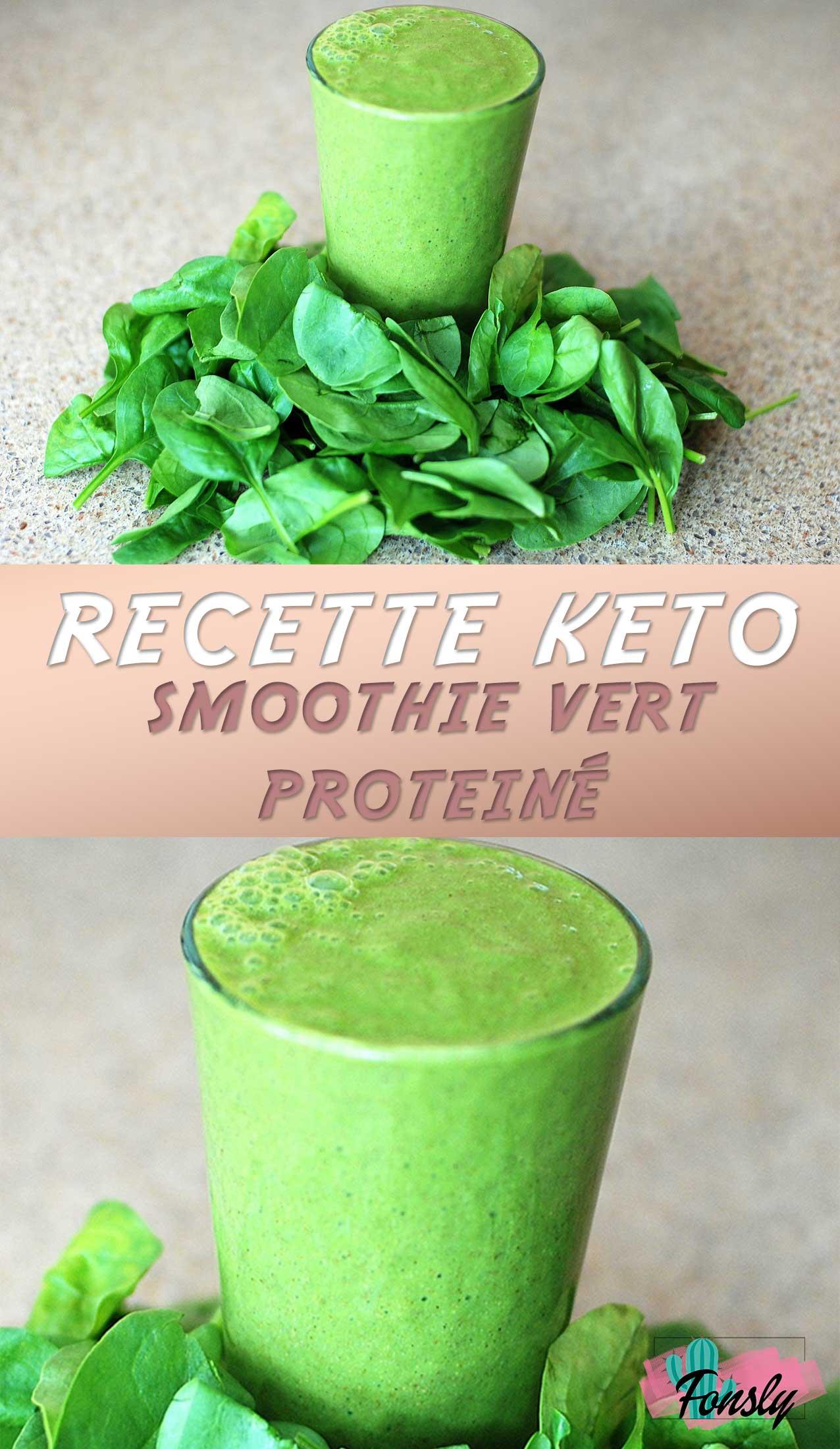 recette cétogène, smoothie santé, recette verte