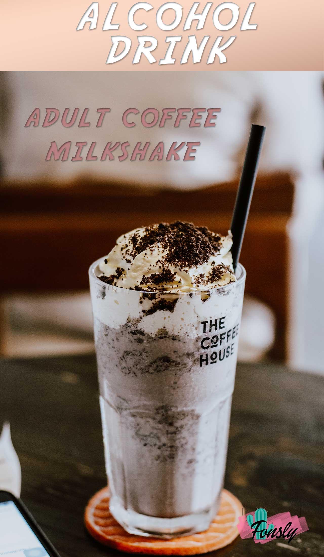 Boozy Coffee Milkshakes, coffee milkshake recipe, whiskey drink