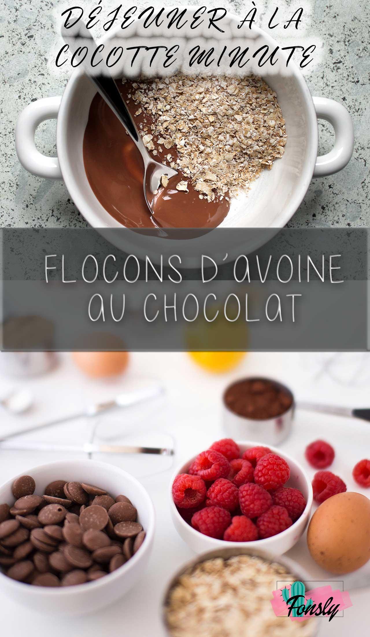 déjeuner pour l'autocuiseur, instant pot avoine et chocolat