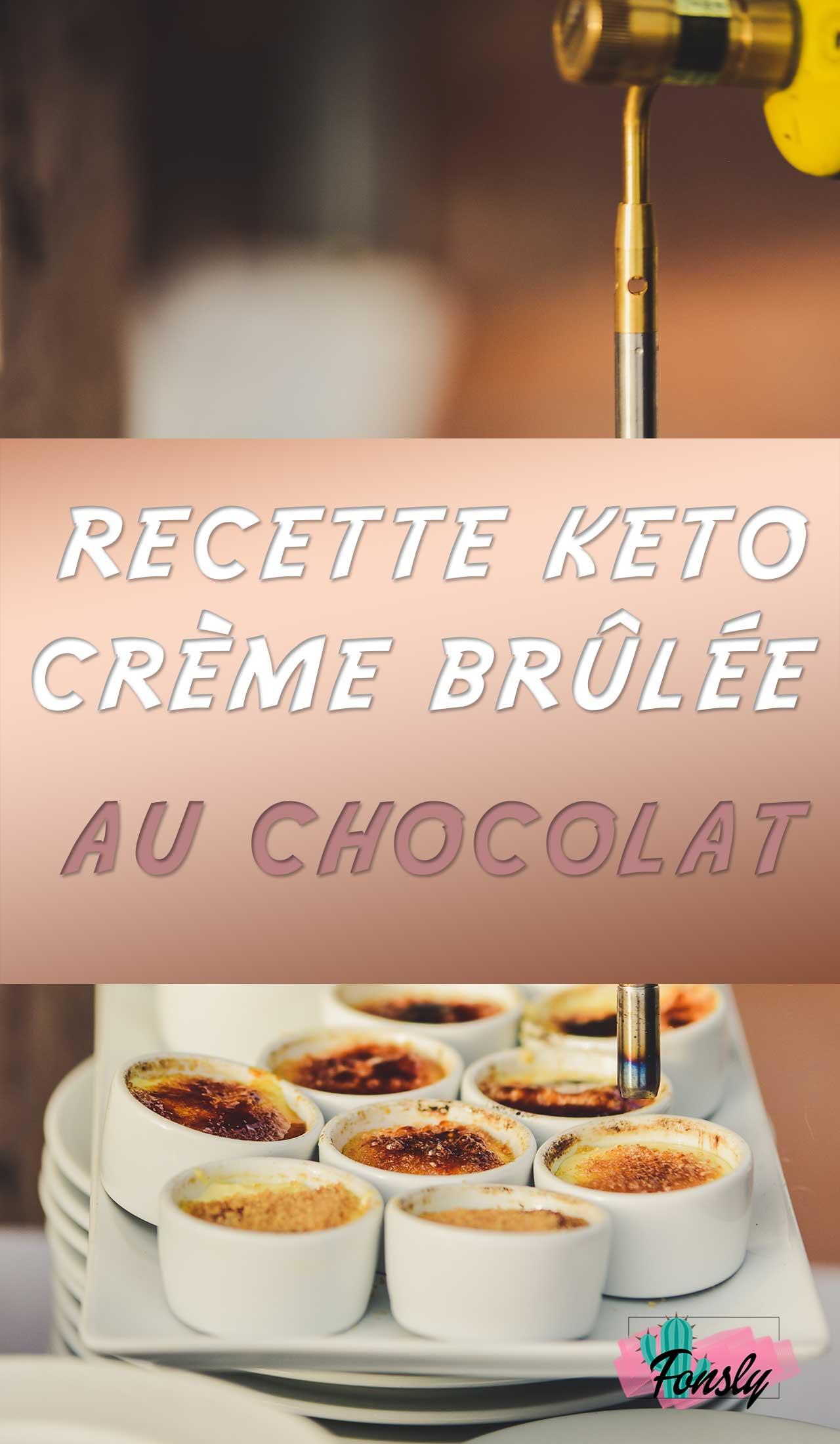 recette de creme brulée, recette de dessert keto
