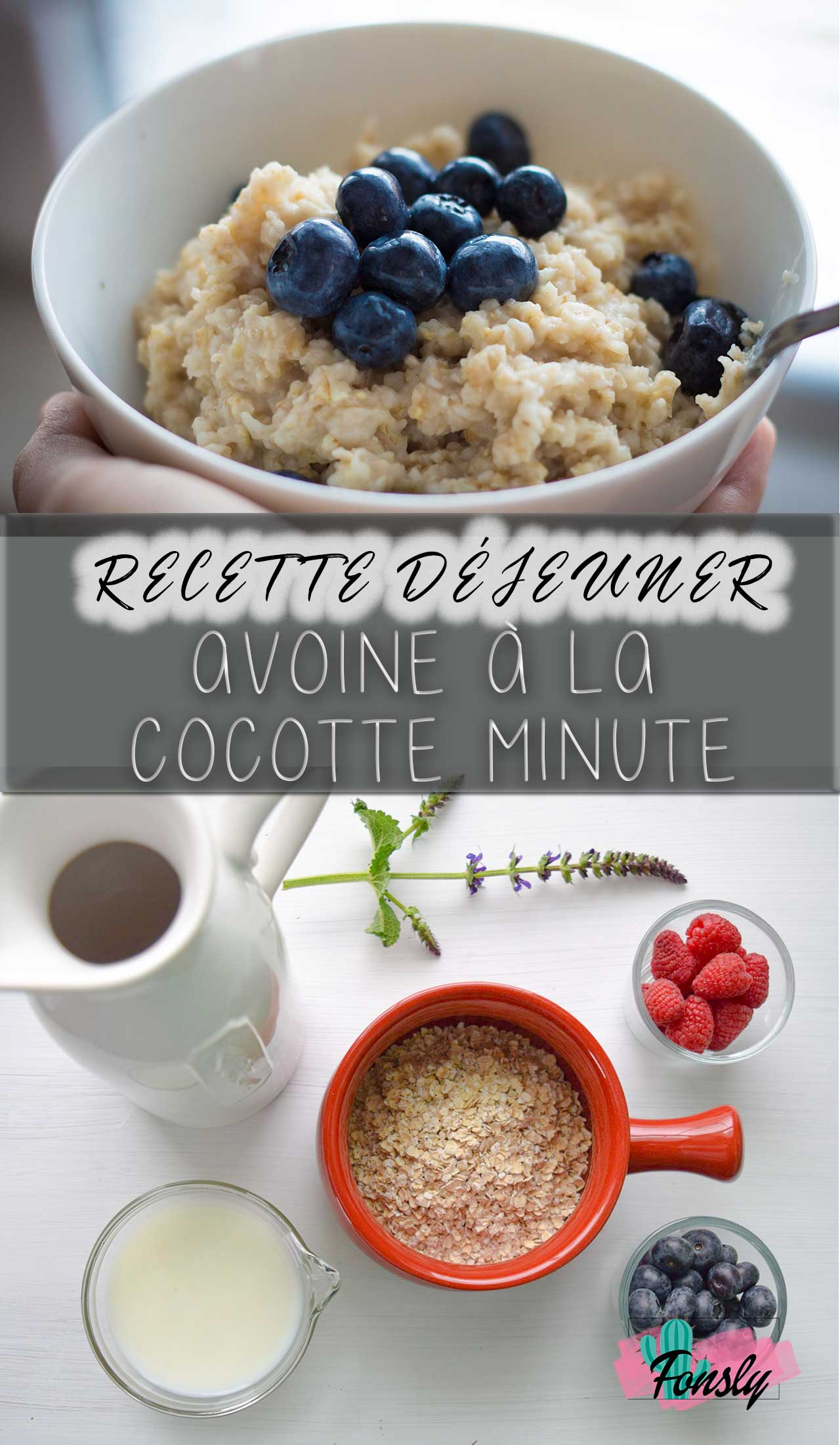 Recette petit déjeuner d'avoine, recette pour cocotte minute