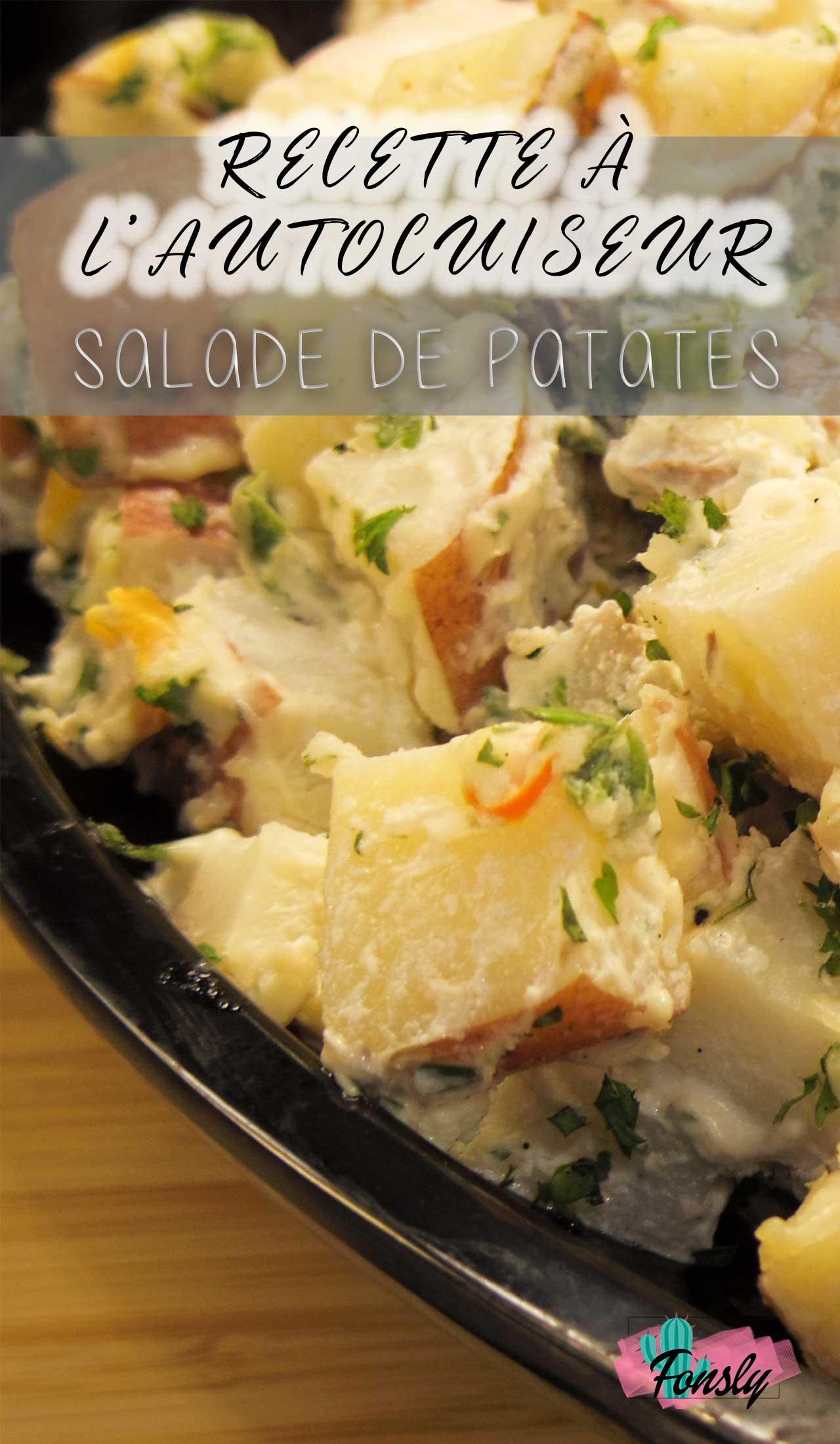 recette salade de patates, recette pour autocuiseur