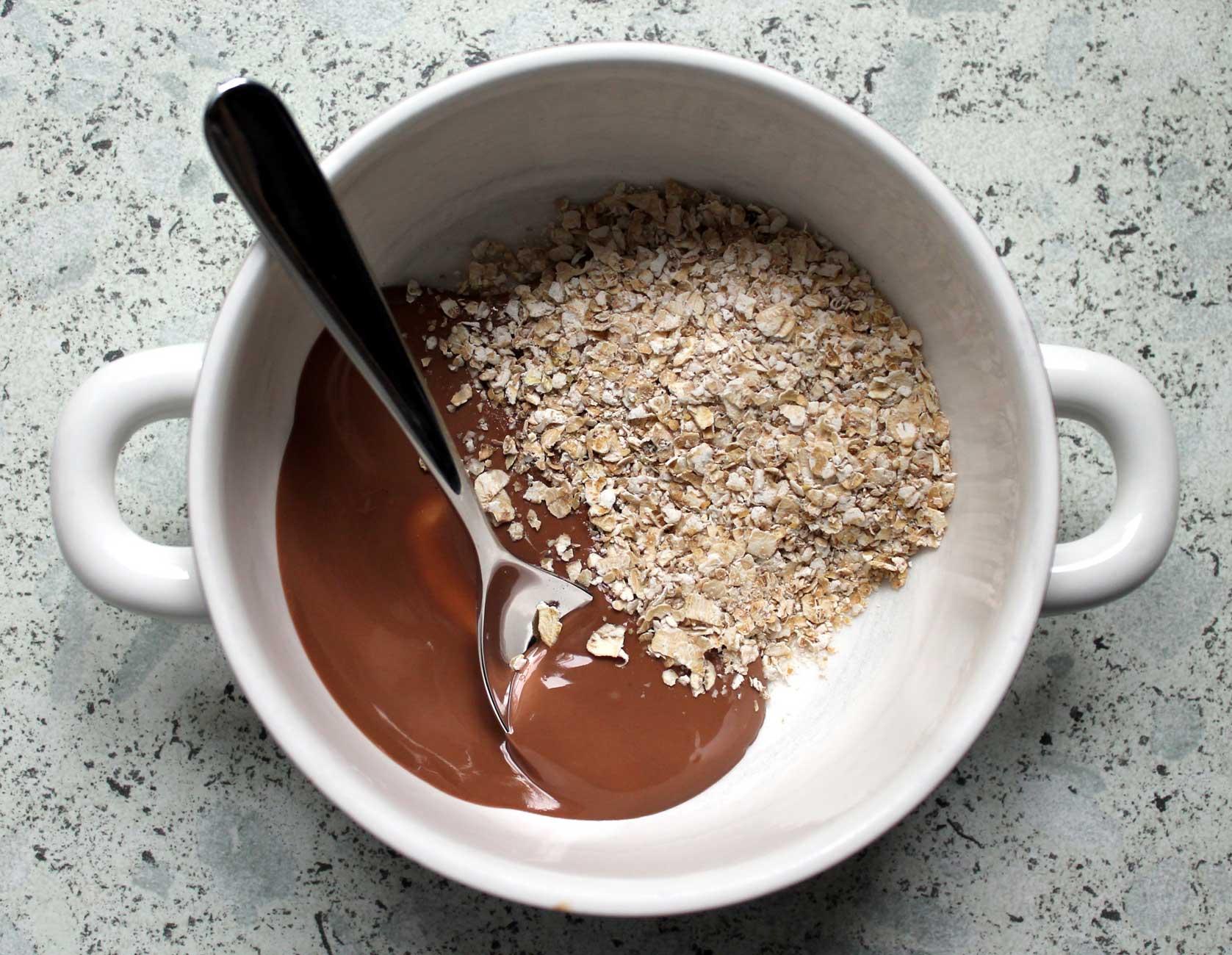 déjeuner à l'autocuiseur, recette avoine chocolat cocotte minutte