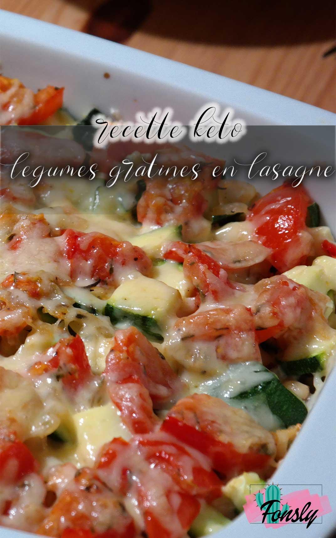 recette lasagne végétarien, recette vege legumes gratinés
