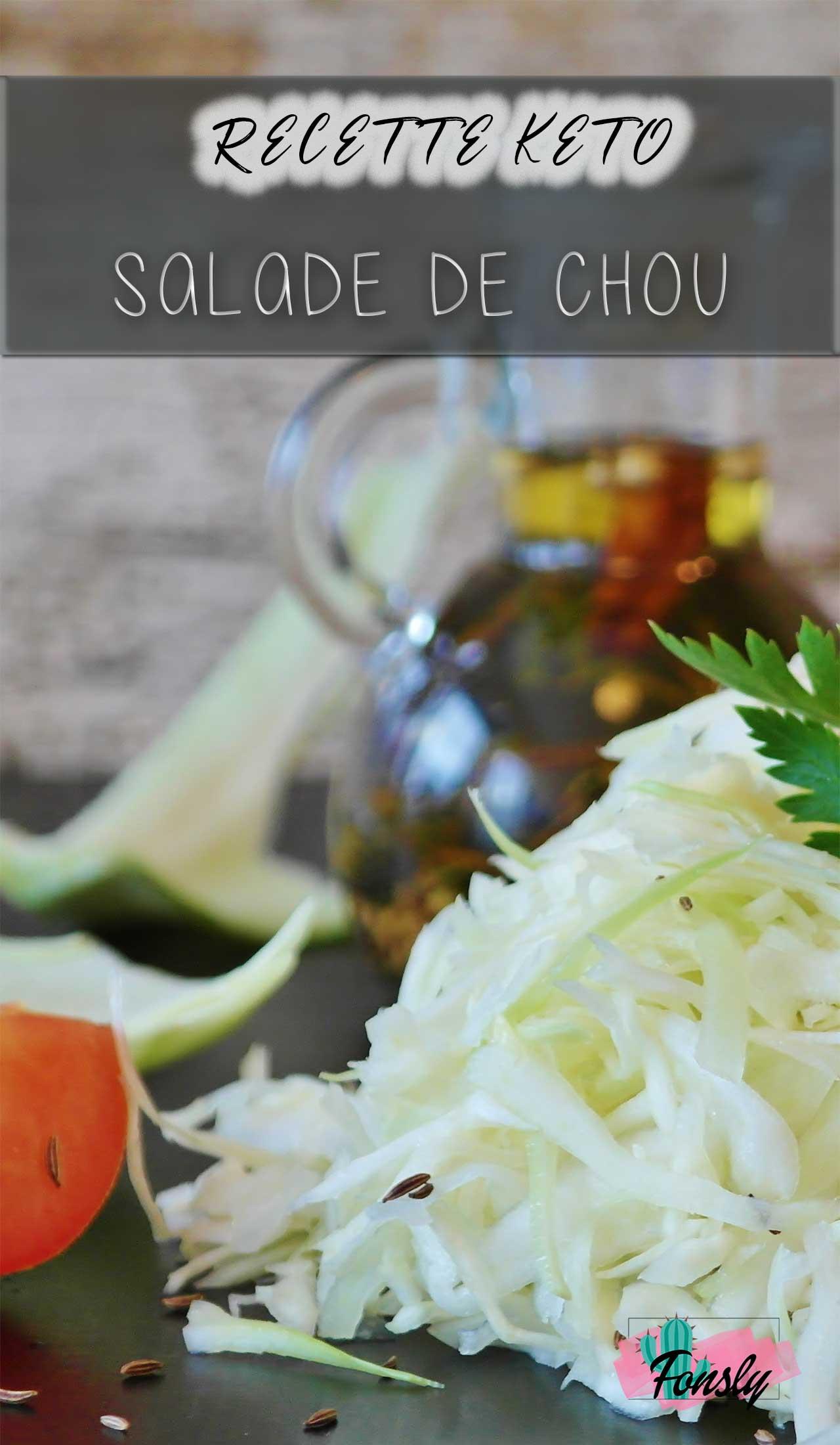 salade maison, recette de chou keto, recette sans-gluten