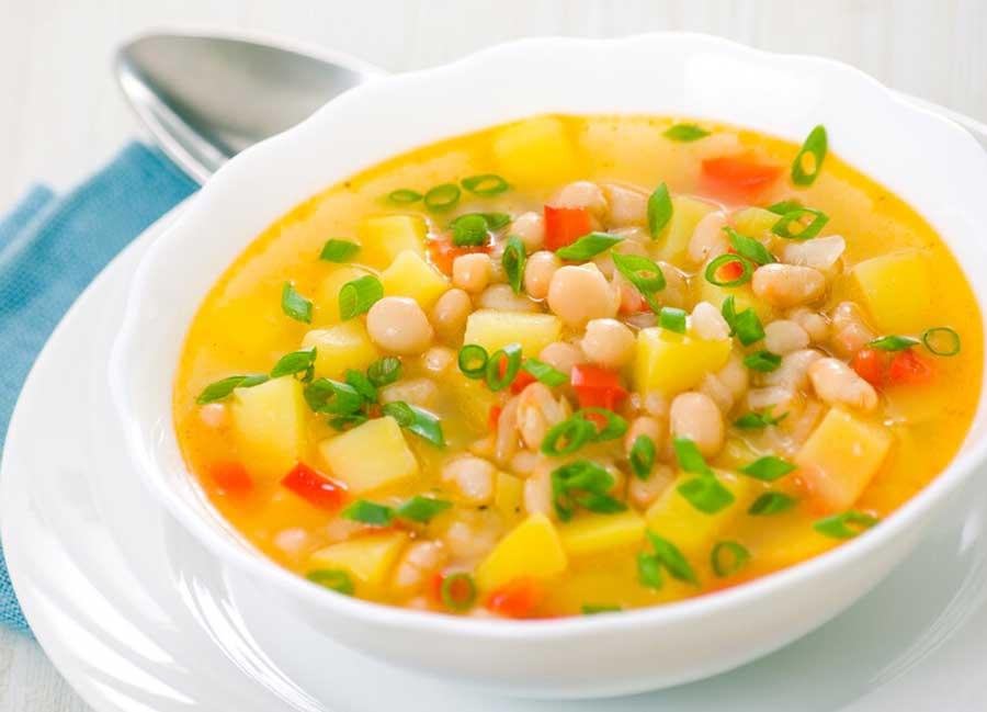 Instant-Pot-White-Bean-Soup-vegetable-leek-zucchini-onion