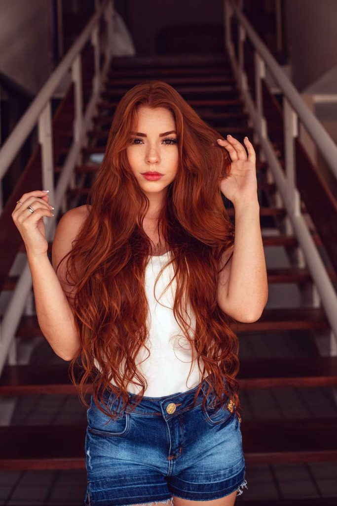 beautiful redhead women