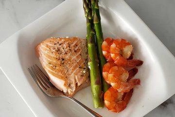 ketogenic recette au saumon asperge
